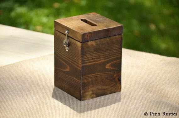 Everyday Rustic Wood Tip Jar Container.jpg