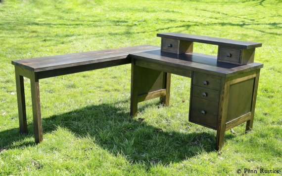 Everyday Rustic Custom Wood Desk.jpg