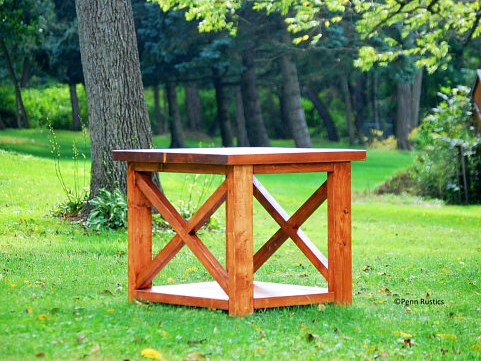 Rustic X Detail Solid Wood End Side Table.jpg