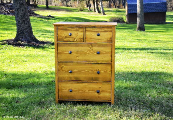 RUSTIC 5 DRAWER BEDROOM DRESSER.jpg
