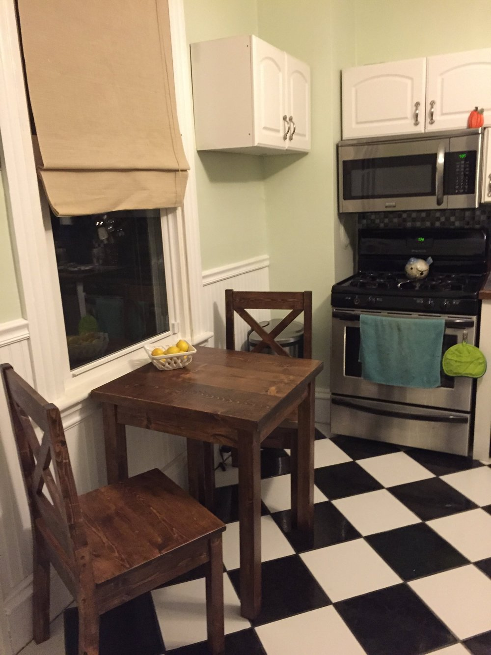 Rustic Farmhouse Bistro Table. Pope2.jpg