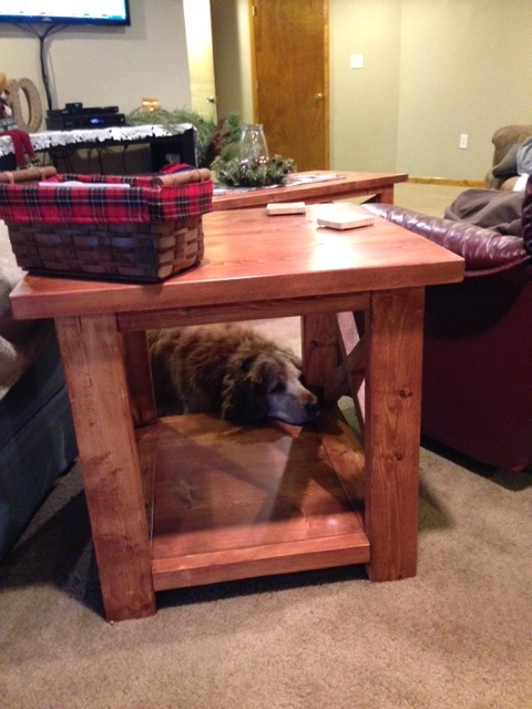 Rustic X Side Table. Huck.JPG