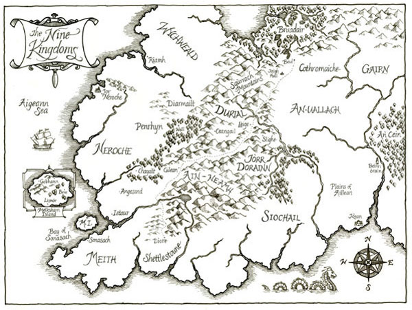 The Nine Kingdoms - Black and White version