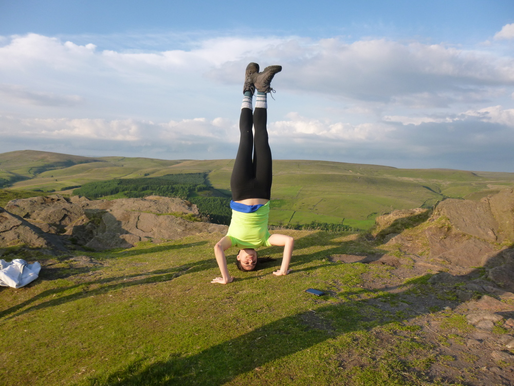 Impromptu Headstand on Shutlinsloe