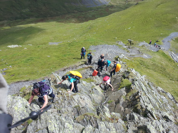 Scrambling up Sharp Edge in the Lake District