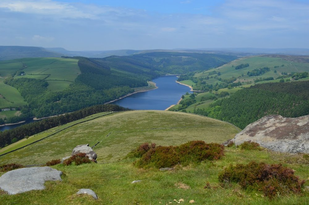 Looking Down on Ladybower Reservoir