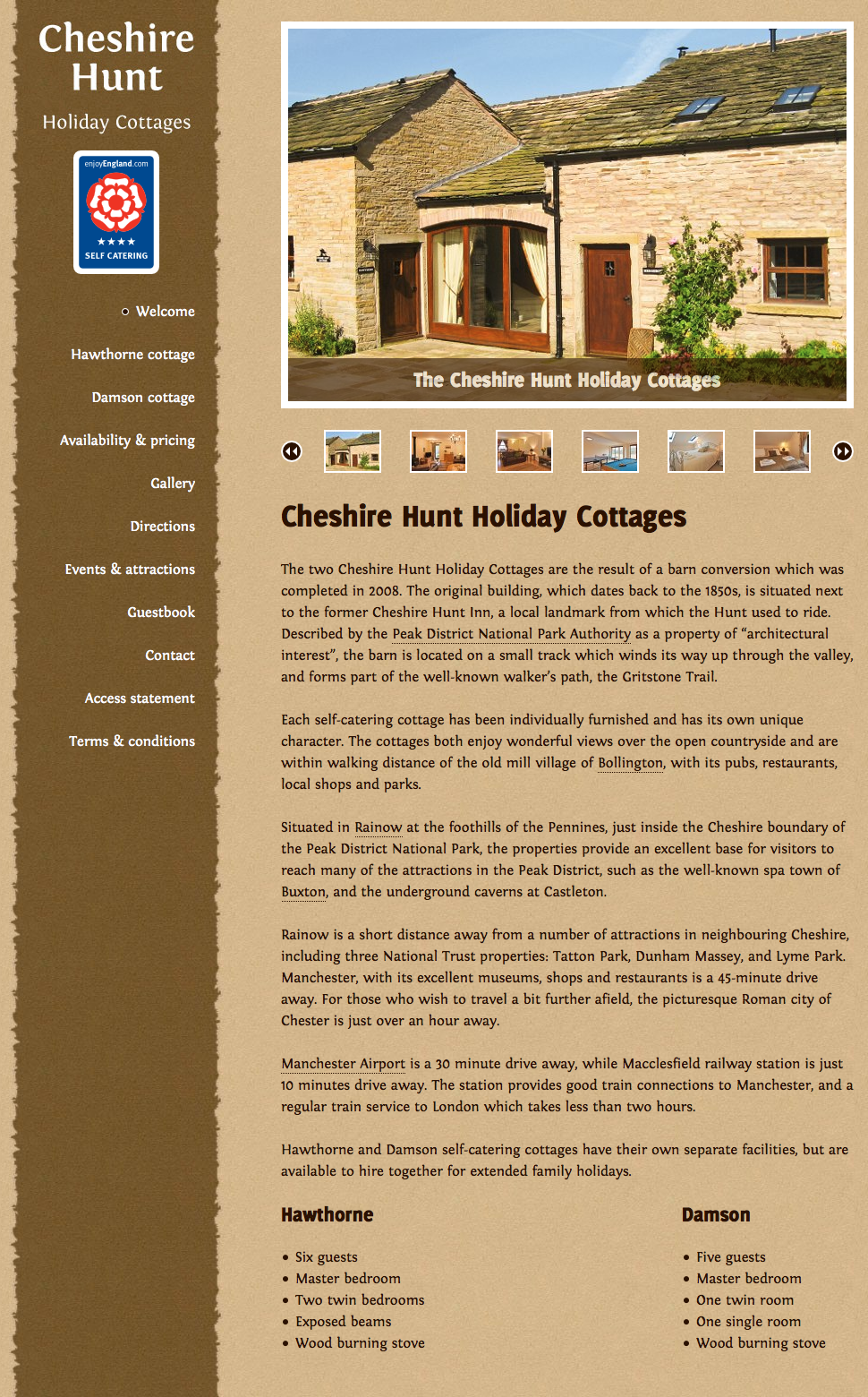 Cheshire Hunt Holiday Cottages