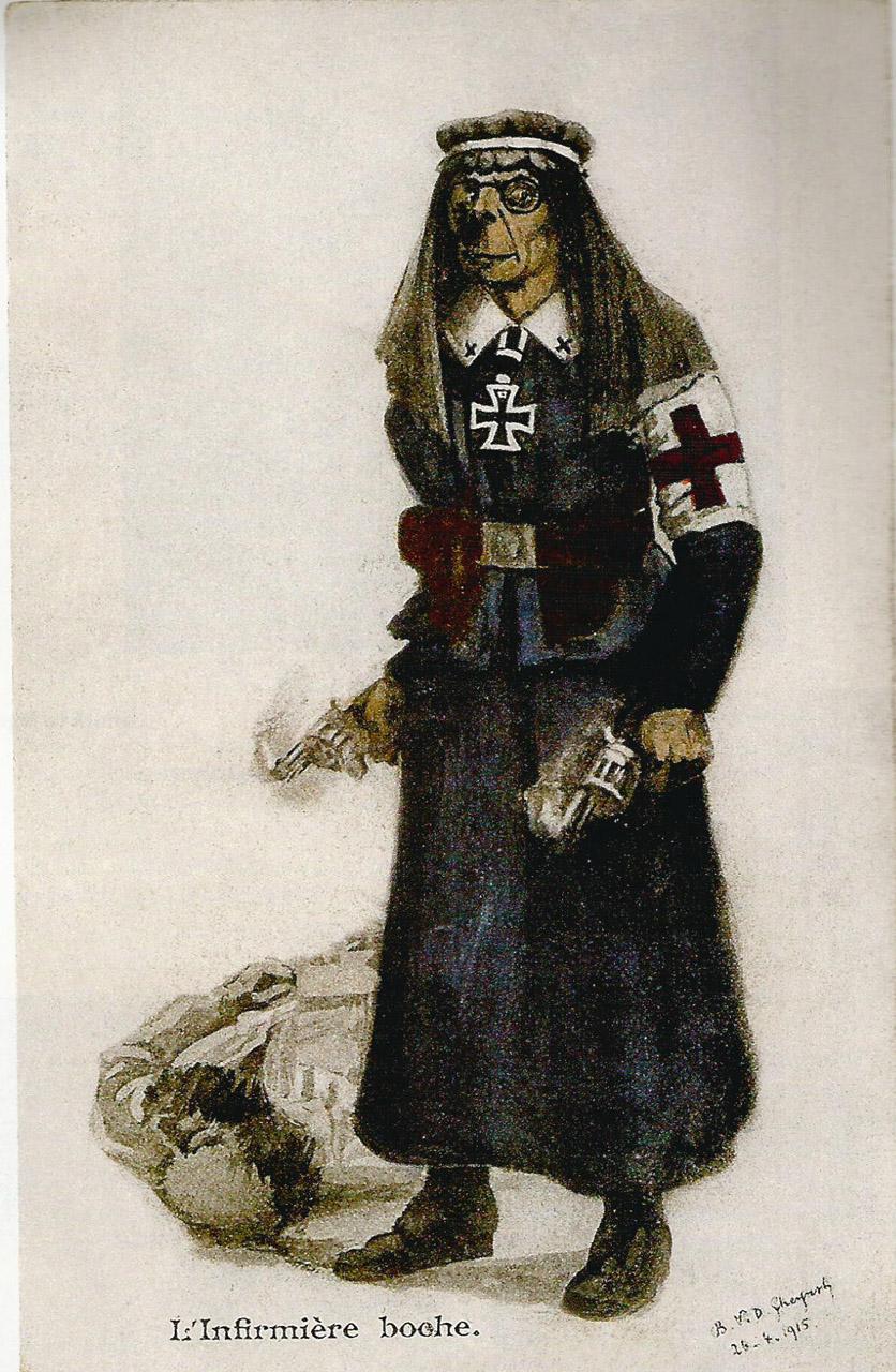 """ The Boche nurse."" France 1915."