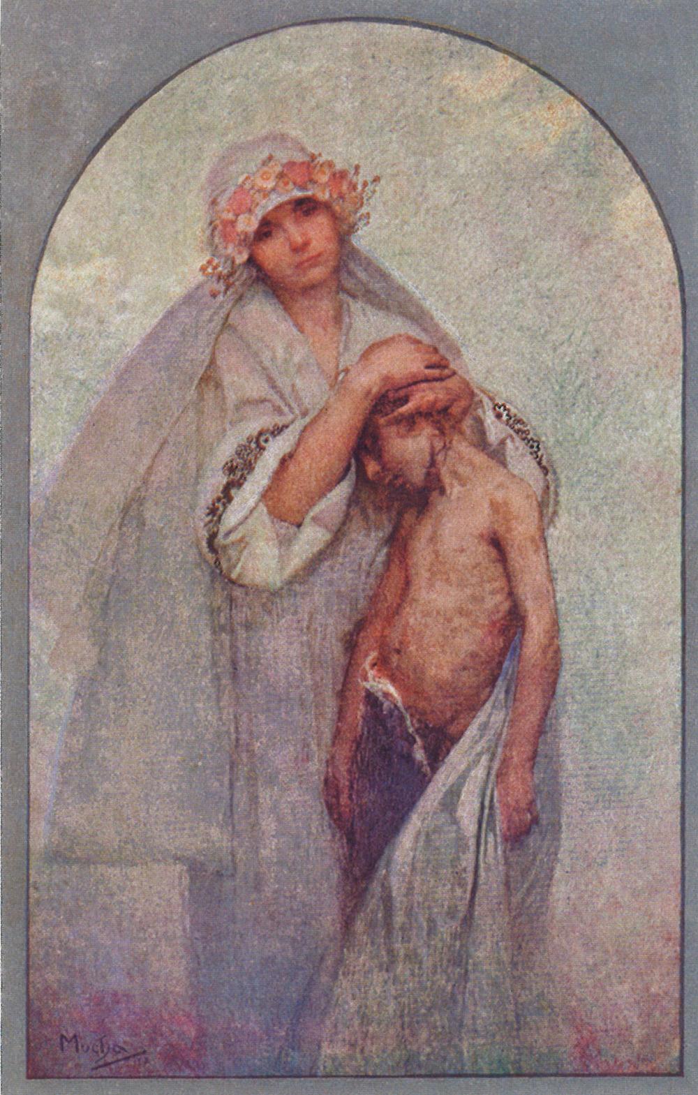 Alphonse Mucha (1860-1939). Bohemian Heart Charity. Prague, Czechoslovakia. 1912.