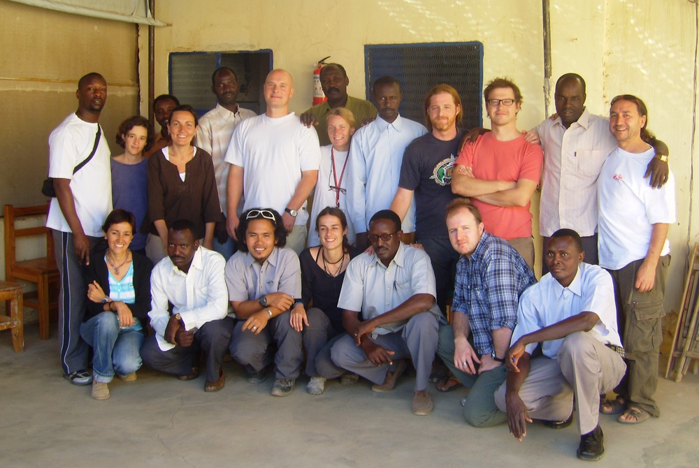 Daniel with a group of North Darfur MSF colleagues.