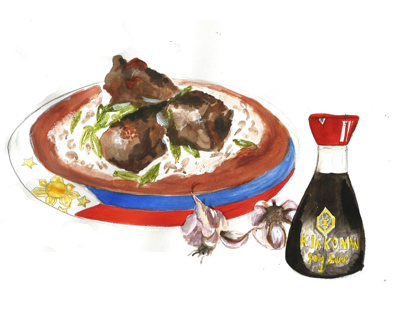 The Melting Pot Ronas Filipino Chicken Adobo Prnmagazine Meat Diagram Symbol