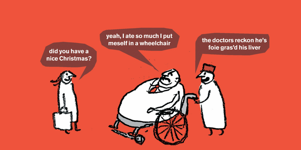 MODERN TOSS Cartoonists and National Treasures, Modern Toss offer their unique thoughts on all matters health.