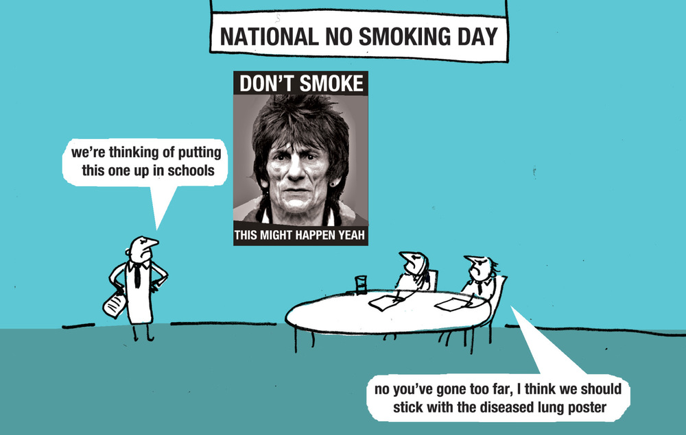 MODERN TOSS Cartoonists and National Treasures, Modern Toss, have come to PRN to offer their unique thoughts on all matters health. This week: No Smoking Day.