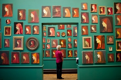 "Francis Alys, ""Fabiola,"" at the National Portrait Gallery (BEN STANSALL/AFP/Getty Images)"