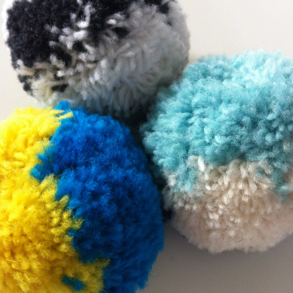Lambswool hand made pom poms for luxury hats