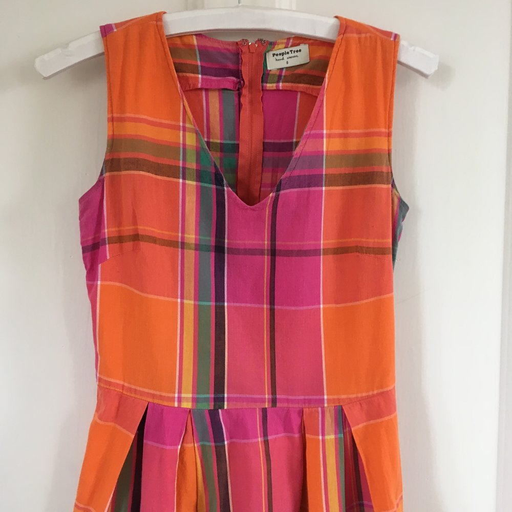 Hand woven dress, from People Tree