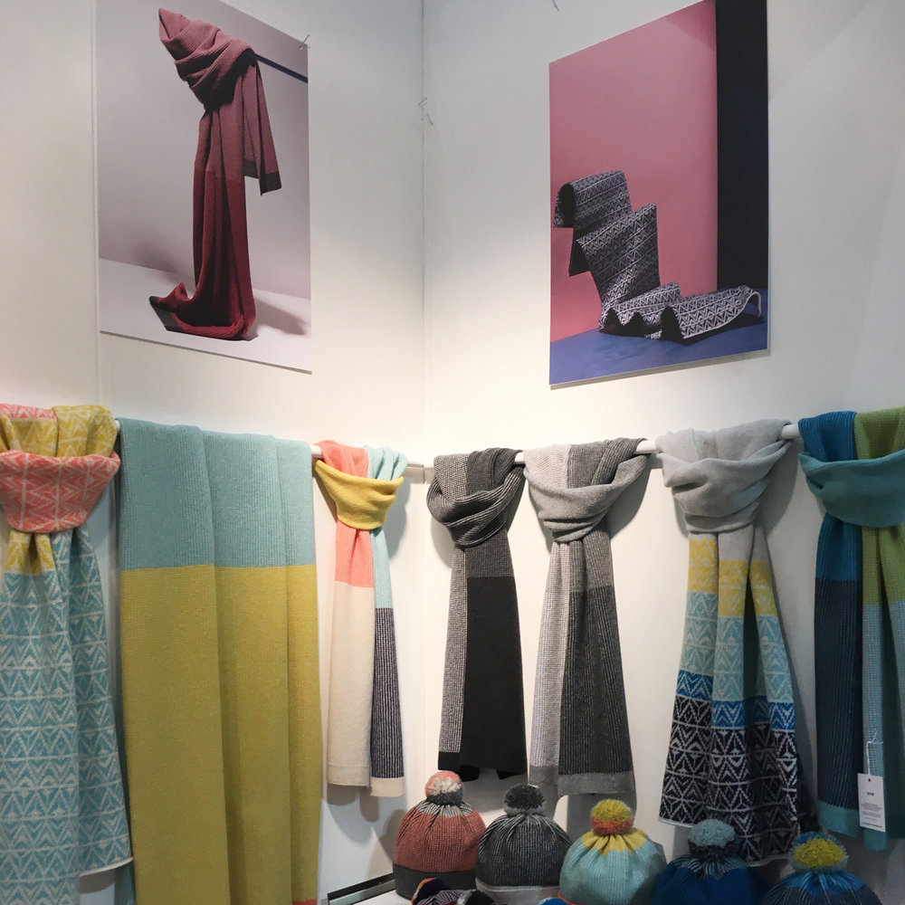 Luxury Lambswool scarves at Scotlands Trade Fair, by Collingwood-Norris