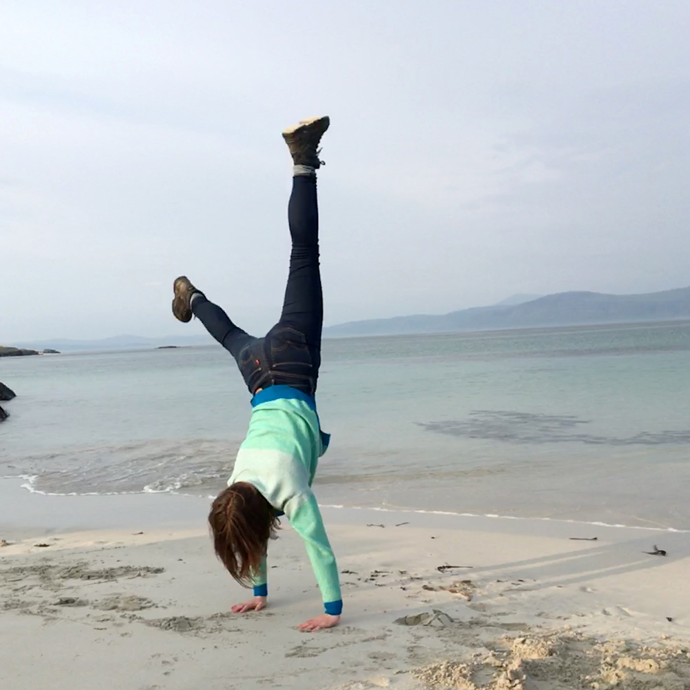 Cartwheels- I'm fairly sure that this jumper is up to any movement!!
