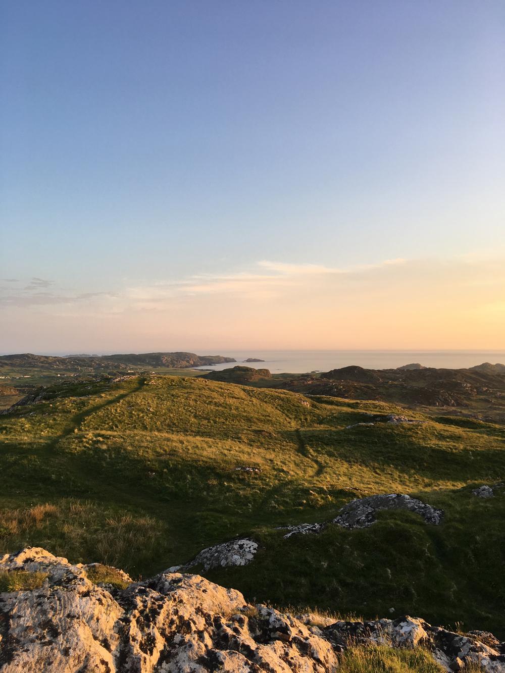 Sunset over Iona.