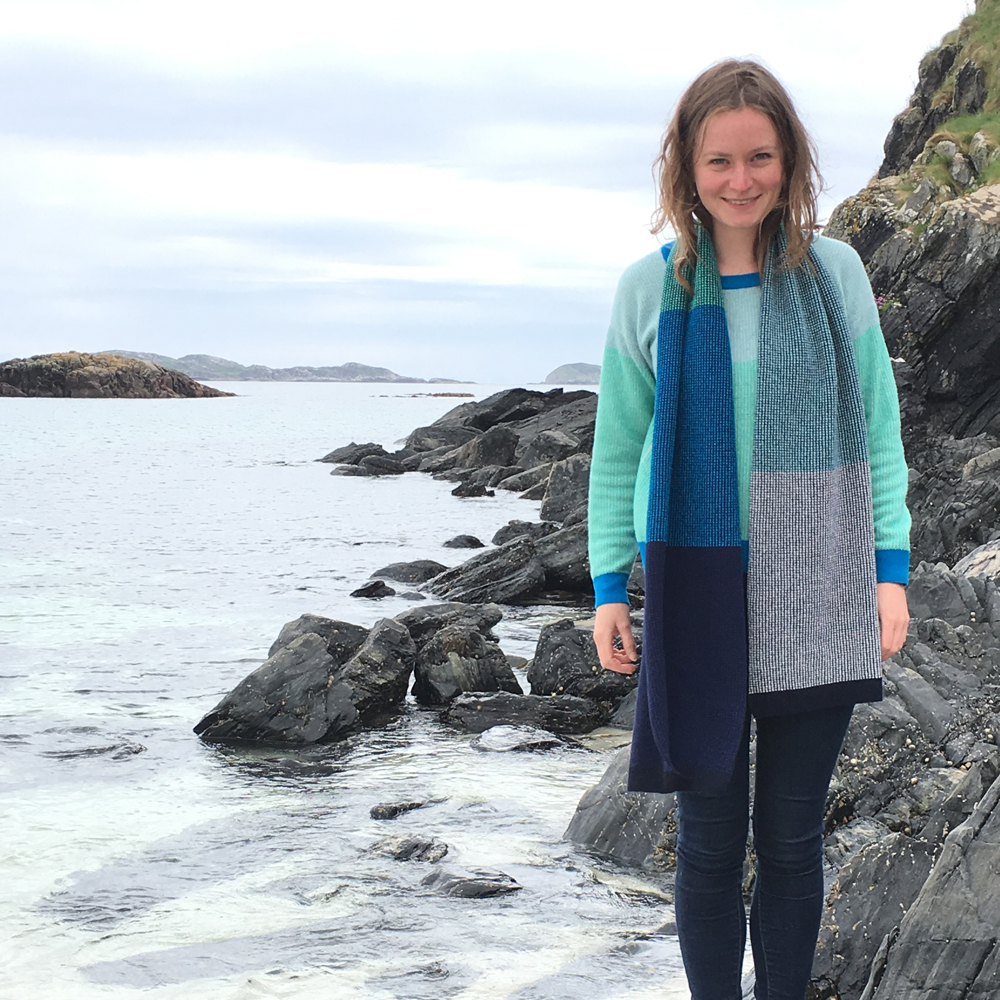 Tiree Scarf , with Islay Scoop Neck Jumper