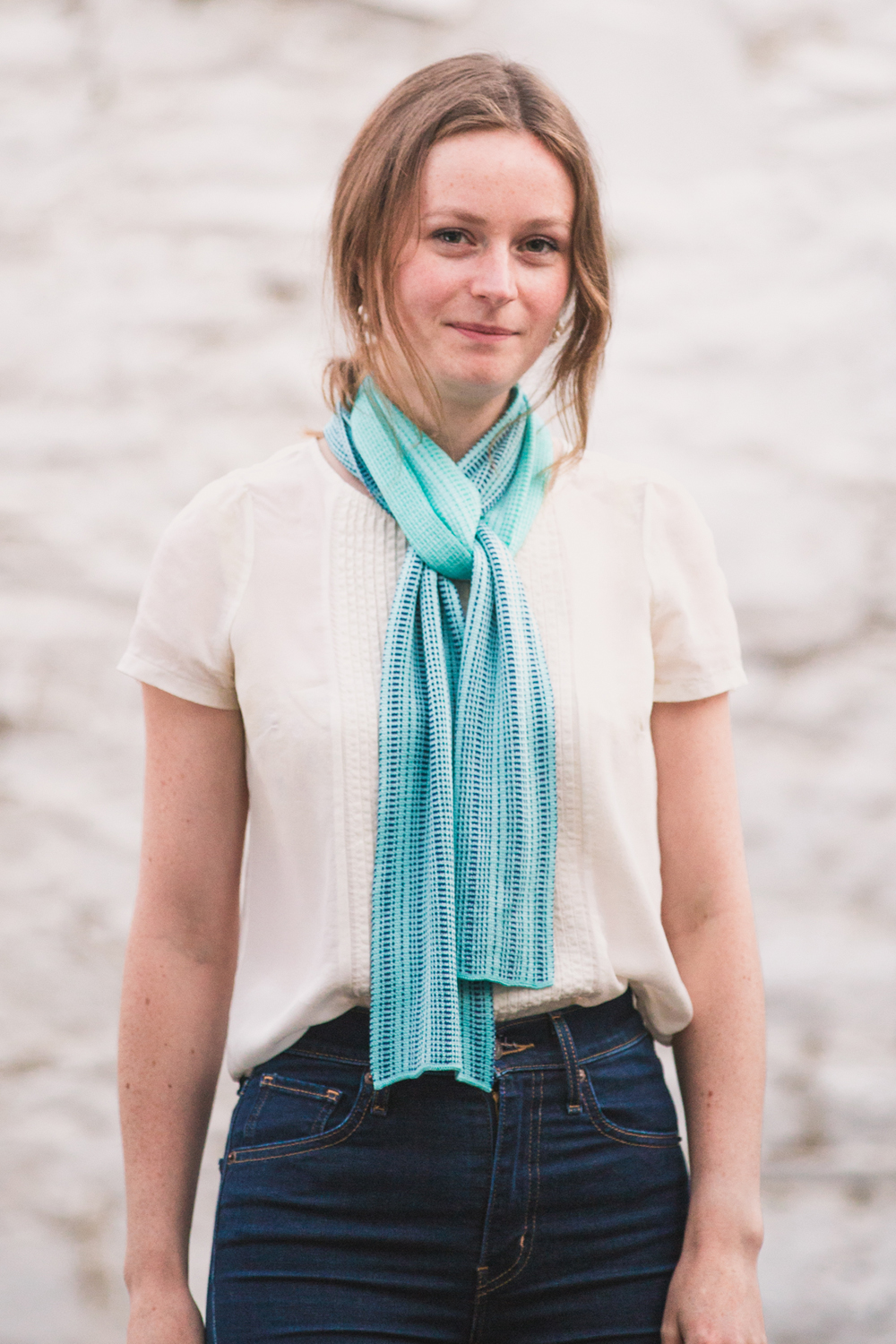A knot that sits really well in the silk scarves, allowing the ends to drape beautifully.