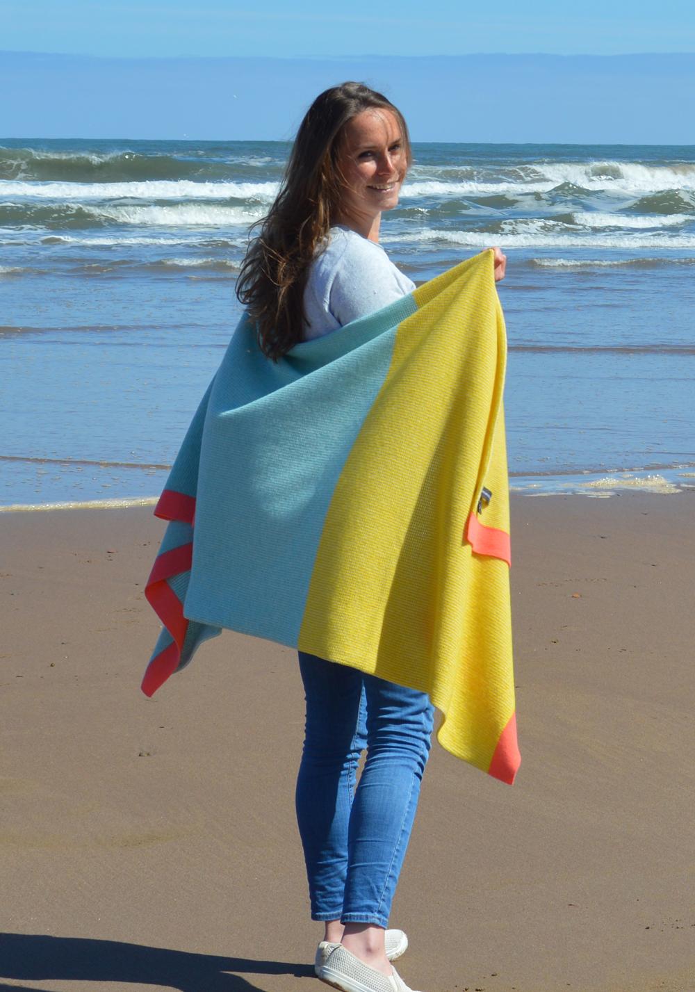 The finished Erraid blanket scarf.