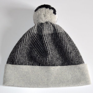 4778065c81a Mist Grey Bobble Hat. A premium lambswool pom pom hat Made in Scotland by  Collingwood