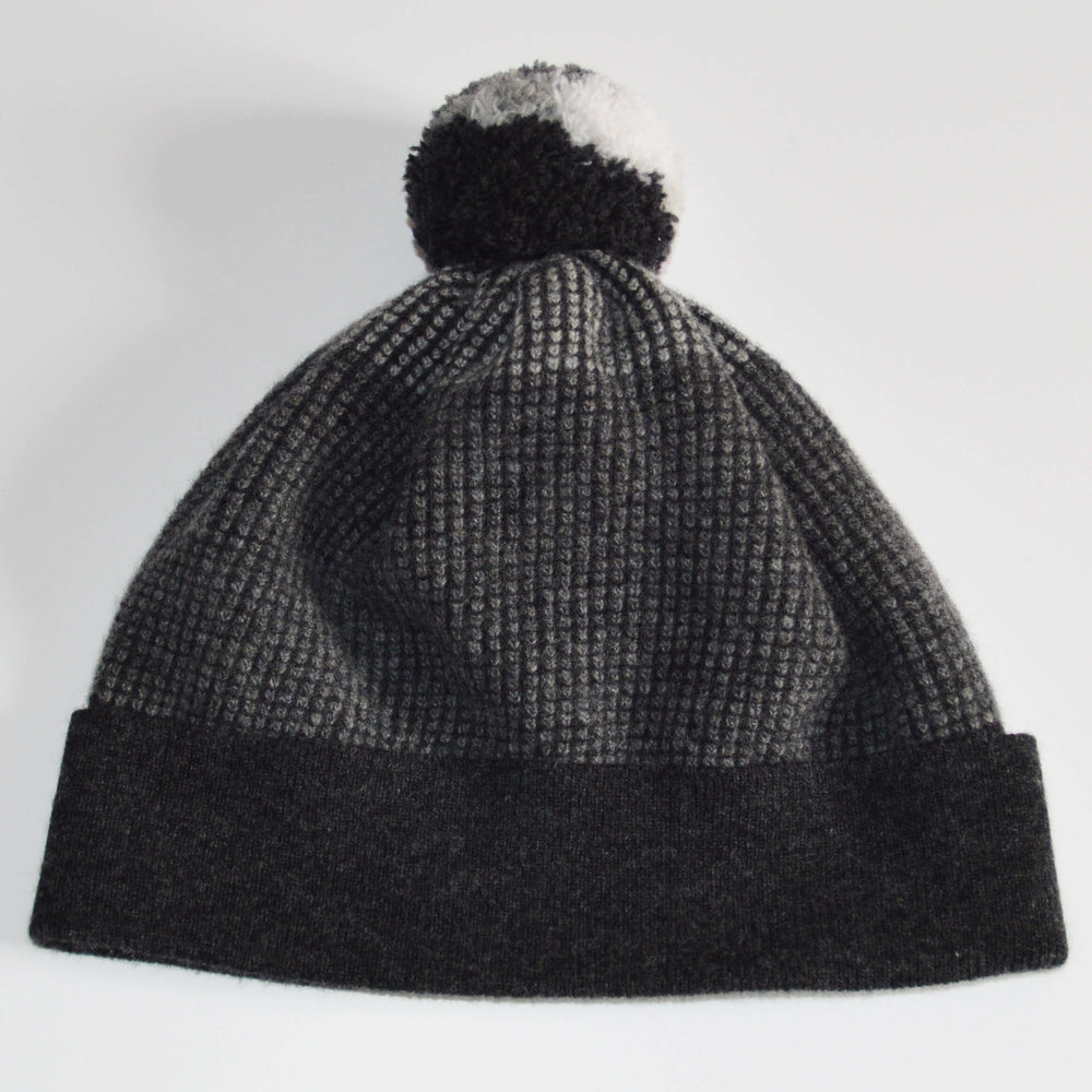 47e81482f59 Dark Grey Bobble Hat. A premium lambswool pom pom hat Made in Scotland by  Collingwood