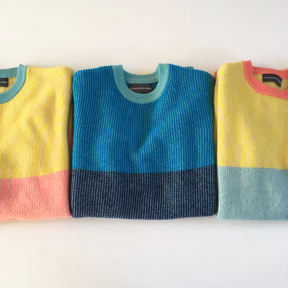 Always fold your jumpers- do not hang!