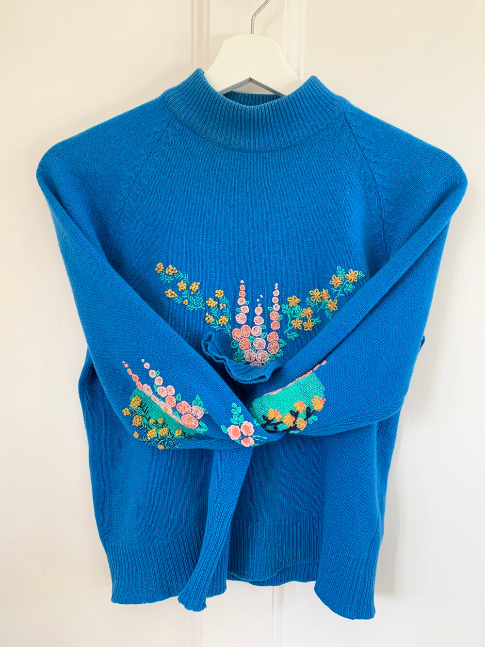 The finished jumper, compete with visible mends!