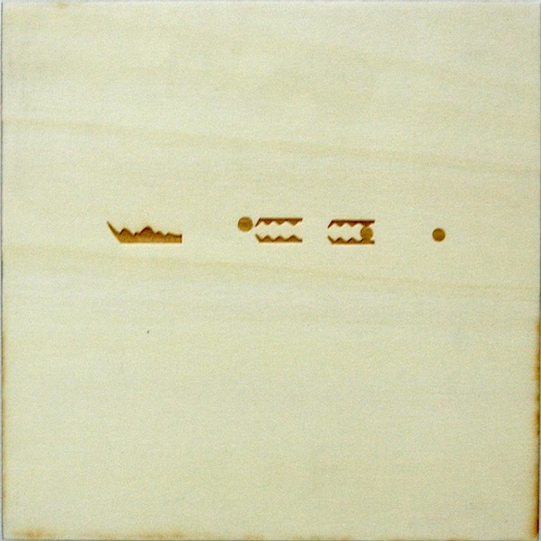 Christine Kettaneh,  mute melody to G dot , laser-engraving on plywood, ed.1/2, 2013.  Exposure 2013, Beirut Art Center.
