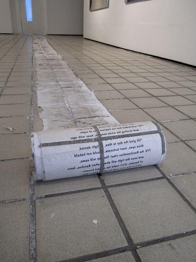 Christine Kettaneh, e cho-floor , paper and acrylic gel medium, 2012.