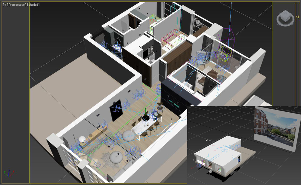 Basic interior model in 3ds Max