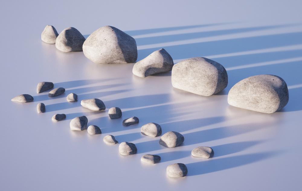 Gravel and pebble geometry