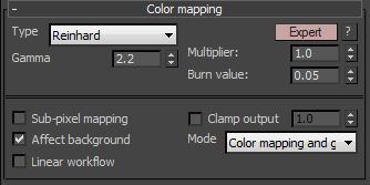 Colour mapping settings