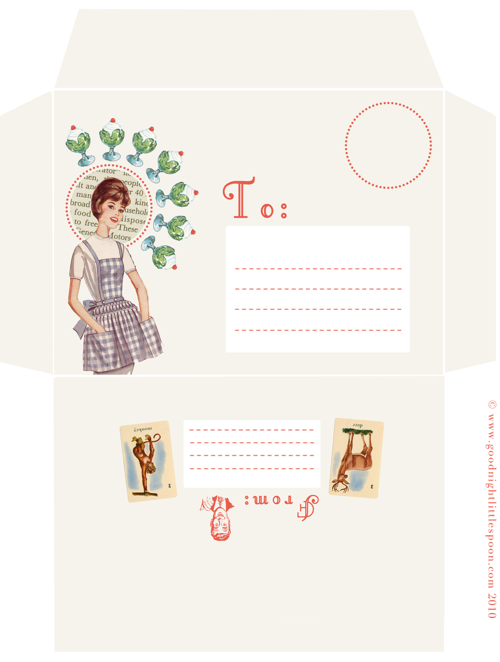 Parfait Girl Envelopes
