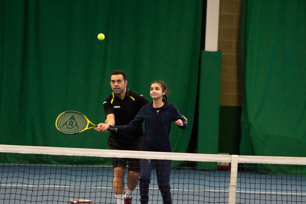 Equinor Tennis coaching Day