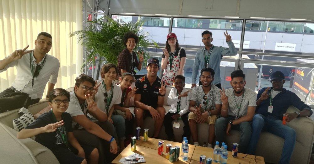 F1 Driver Daniel Ricardo Meets Group
