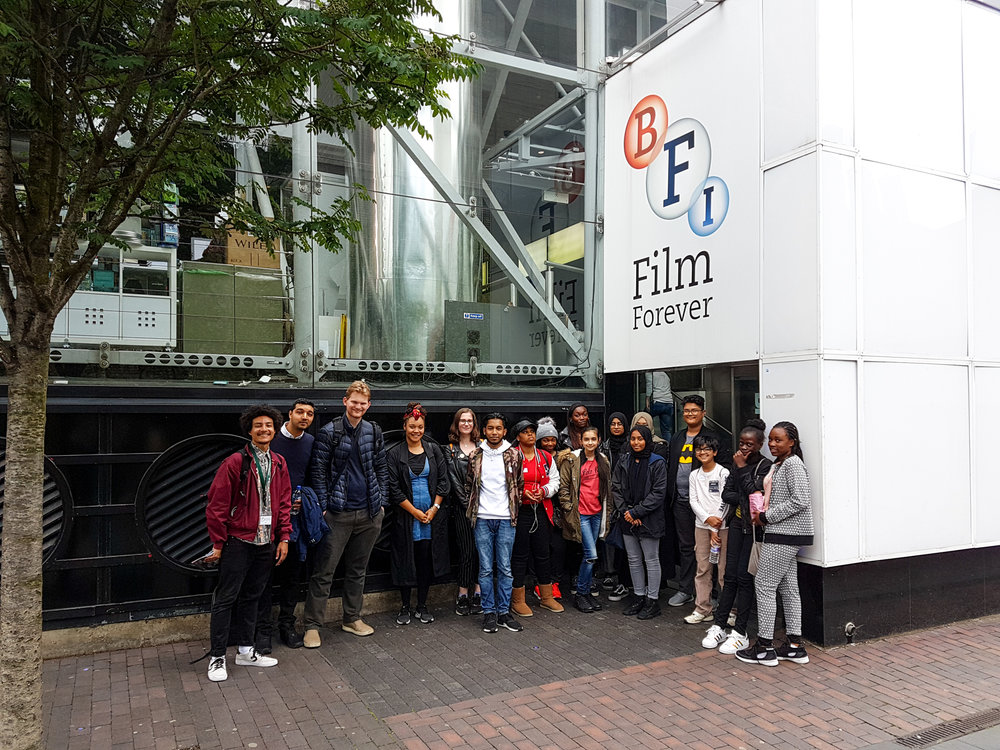 Doing a silent filmmaking workshop at the BFI