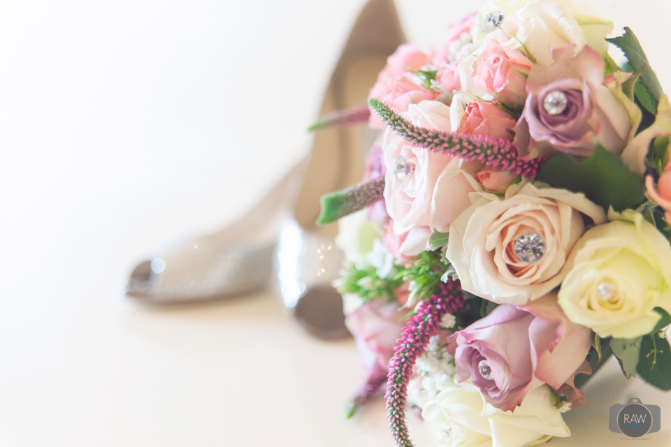 Jimmy Choo and bouquet - A beautiful combination