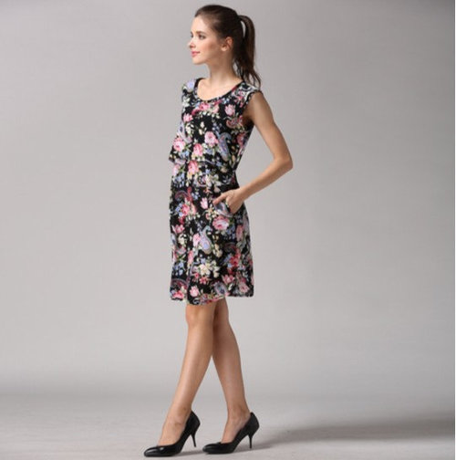 49be7c16476 Floral Paisley Nursing & Maternity Dress with Pockets.  il_570xN.868591065_6q9n.jpg