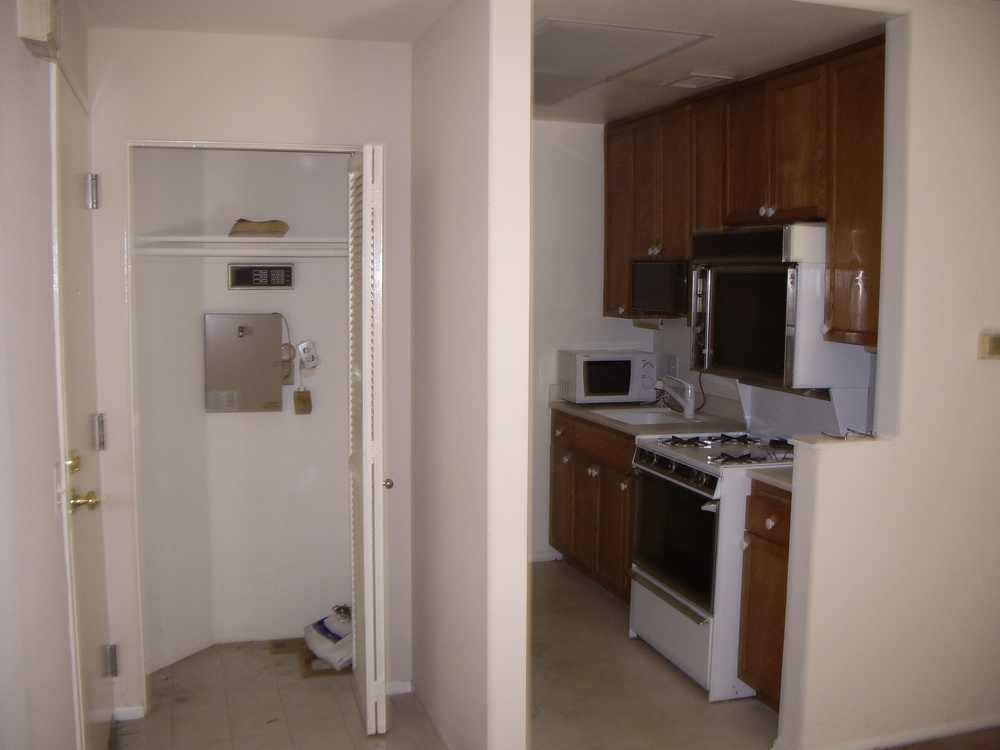 Before: Entry and kitchen