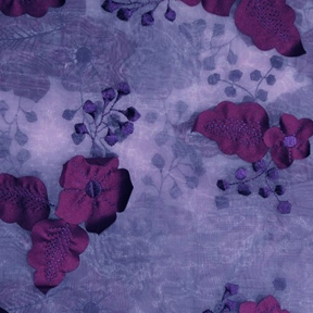"Bloom Plum Overlay 132"" round, 85"" square"