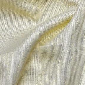 "Vintage Linen Metallic Ivory  132"" round"