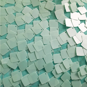 """Dazzle Squared Mint Overlay  85"""" square, 22""""x120"""" runner"""