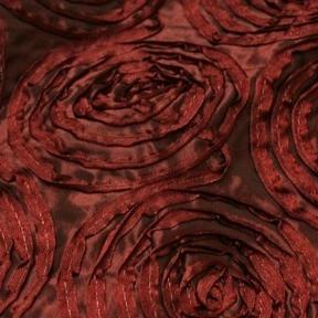 """Rosetta Merlot  132"""" round, 8' drape"""