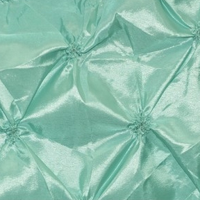 "Dimple Mint 132"" round, 8' drape"
