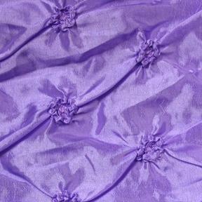 "Dimple Lavender  132"" round, 8' drape"