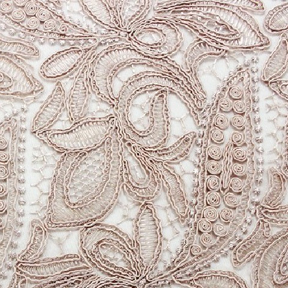 "Province Lace Blush Overlay  85"" square"