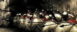 The 300 in Greek Phalanx formation